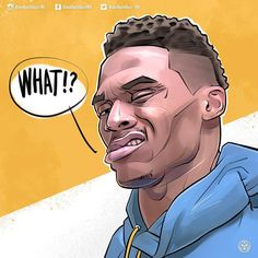 Russell Westbrook WHAT Illustration