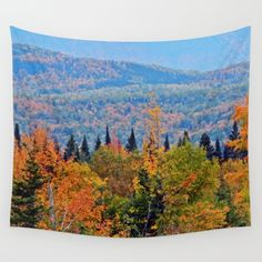 Autumn with Nature Wall Tapestry