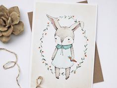 FREE PRINTABLE BUNNY ILLUSTRATION