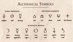 alchemical symbols - Cerca con Google
