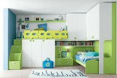 Totally awesome green room with loads of storage