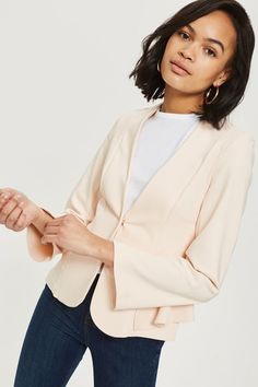 Peplum Fitted Jacket