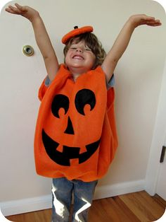 homemade by jill: halloween; pumpkin costume