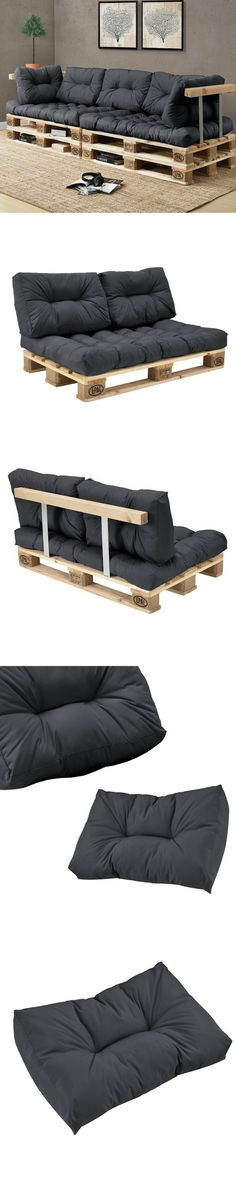 Coussin Palette : Guide d'Achat 2019 (+ Bons Plans) Where to find pallet furniture cushions? Pallet Furniture Outdoor Cushions, Pallet Cushions, Outdoor Pallet Projects, Wooden Pallet Furniture, Wood Pallets, Where To Find Pallets, Furniture Projects, Diy Furniture, Banquette Palette