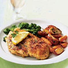 Chicken Scaloppine with Broccoli Rabe Recipe < 100 Easy Chicken Recipes - Cooking Light Mobile