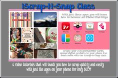 iPhone/iPad app class. Learn how to use your iPhone with this online class that comes with 6 video tutorials teaching you how to use your iPhone to scrap quickly and easily only $12.99