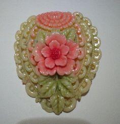 Vintage Celluloid Flower Pin Japan | eBay