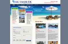 MK Travels website