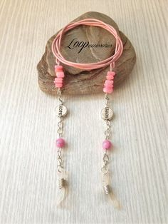 HOPE Breast Cancer Awareness Pink Leather by LoopAccessoriesShop Diy Jewelry Projects, Jewelry Crafts, Diy Fashion Accessories, Purple Leather, Cancer Awareness, Band, Breast Cancer, Chains, Amethyst