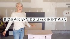 In this video I'm going to show how I remove wax and repaint a vanity without sanding it. The vanity was previously painted with Annie Sloan Chalk Paint in t. Annie Sloan Chalk Paint And Wax, Annie Sloan Wax, Chalk Paint Finishes, Chalk Paint Wax, Annie Sloan Paints, Paint Stain, Chalk Painting, Painting Tips, Annie Sloan Furniture