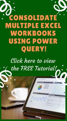 Consolidate Multiple Excel Workbooks Using Power Query Free Programming Books, Excel Cheat Sheet, Computer Literacy, Computer Tips, Excel For Beginners, Excel Hacks, Excel Budget Template, Pivot Table, Charts And Graphs