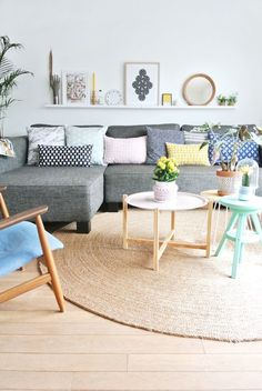 gray sofa with pastel cushions. 130 Gorgeous Living Room Design Ideas In Eclectic Style. Scandinavian home design ideas Scandinavian Living, Room Design, Interior, Scandinavian Decor Living Room, Scandinavian Home, My Scandinavian Home, Living Room Scandinavian, House Interior, Interior Design