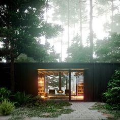 Olson Kundig - Cabin in Longbranch - Cabin Entry