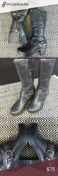 """DANSKO Leather Boots Very gently used condition 2"""" heel Clean inside and out Euro size 37 Dansko Shoes Heeled Boots"""