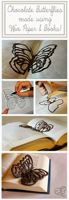 202Material: Make Chocolate Butterflies Using Wax Paper and Books!
