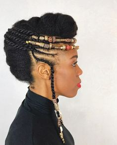 Natural Styles Bralded Updo 2020 We would wish to begin our list of the simplest Natural Styles with this glam updo. The twisted hair has been styled high Updo Cabello Natural, Natural Hair Updo, Natural Hair Styles, Natural Mohawk, African Hairstyles, Afro Hairstyles, Wedding Hairstyles, Bridal Hairstyle, Updo Hairstyle