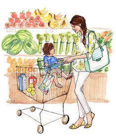 Markette anne ve çocuk Huggies-Inslee-2