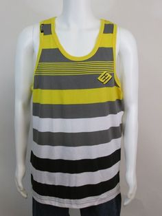 NEW Men's ENYCE Tank Top/Yellow/Multi-Color/Size: Large www.Stores.EBay.com/BklynLove77