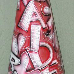 Custom airbrushed megaphone