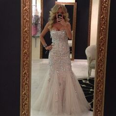 Bling mermaid style dress. Part of the Jovani Wedded Wonderland collection.