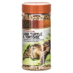 Zilla Fortified Food Land Turtle and Tortoise. Turtle owners prize an active pet with varied, vivid shell color. Zilla food is formulated to deliver both, plus the life-lengthening mineral blend owners cant recreate with table scraps or do-it-yourself pet