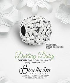 PANDORA Darling Daisy Meadow Clip - Spring Collection 2015