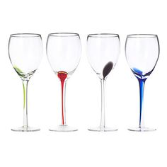 Look what I found at UncommonGoods: Splash Wine Glasses -Set of 4 for $35 #uncommongoods