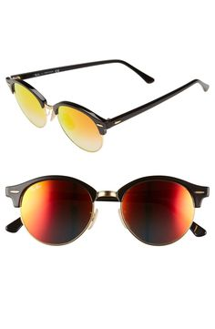 This summer it's all about retro vibes, and the color-pop lenses make these Ray-Ban sunnies a summertime staple.