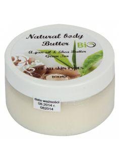 MASŁO SHEA 100g z olejkiem arganowym o zapachu zielonej herbaty BIO  • w 100% naturalne • piękny aromat zielonej herbaty • niezwykłe właściwości nawilżające • zapobiega starzeniu się skóry • wydajne • do każdego typu skóry Butter, Preserve, Butter Cheese