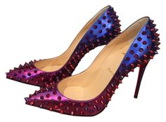 Christian Louboutin Spiked Follies Red/Blue Pumps. Get the must-have pumps of this season! These Christian Louboutin Spiked Follies Red/Blue Pumps are a top 10 member favorite on Tradesy. Save on yours before they're sold out!