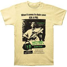 Texas Chainsaw Massacre Cuts Like a Sawyer Mens T-Shirt S... http://smile.amazon.com/dp/B00FSKOW60/ref=cm_sw_r_pi_dp_Sakqxb08WV05F