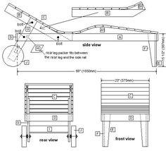 Gratis voorbeelden voor houten tuinbedden. Bouwtekening van een tuinbed van steigerhout. Ligbed zelf maken van steigerplanken, instructies met fotogallerij.