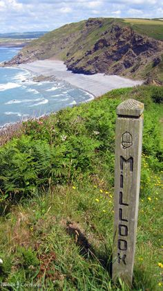 View from coast path near Millook Haven, Cornwall