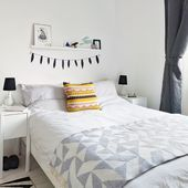 Looking for modern bedroom decorating ideas? Take a look at this Scandi influenced bedroom from ideal Home for inspiration. For more bedroom ideas, such as how to decorate an attic bedroom, visit our bedroom galleries White Bedroom, Beautiful Bedrooms, Home, Home Bedroom, Bedroom Design, House Interior, Modern Bedroom, Country Bedroom, Monochrome Bedroom