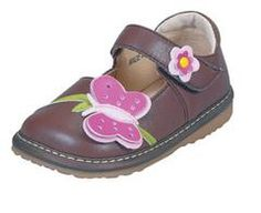Brown Butterfly Girl - Squeak Me Shoes
