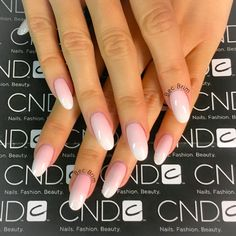 CND™ SHELLAC® brand 14+ day nail color. Be Demure, Winter Glow & Cream Puff #cnd #shellac #cndgowithapro #nails #ombre #nailart