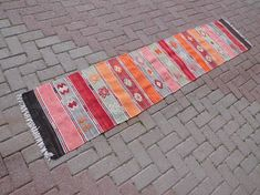 Check out this item in my Etsy shop https://www.etsy.com/listing/600178543/turkish-runner-runner-rug-kilim-runner