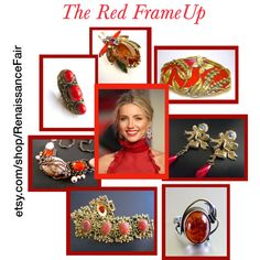 The red frame up by renaissance-fair on Polyvore featuring Burberry