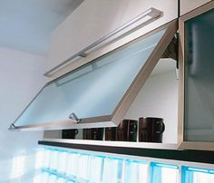 Lift Up Kitchen Cabinet Idea For Over The Microwave