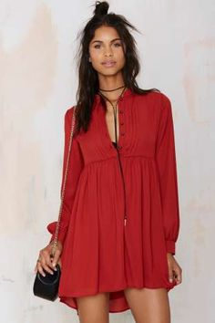 Nasty Gal Jacqueline Shift Dress - Rust | Shop Clothes at Nasty Gal!