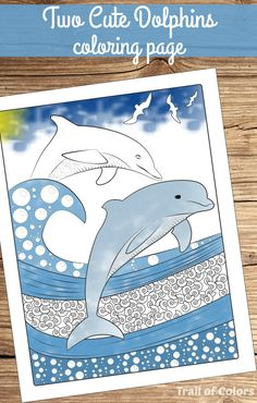 Ocean Themed Coloring Page for Adults - Trail Of Colors