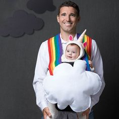 Look forward to bright days ahead with this sweet rainbow getup. #Halloween
