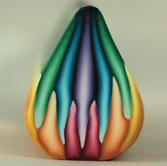 Rainbow Polymer Clay Petal Cane, pinning for future inspiration.