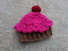 Crochet Cupcake Baby Hat 03 Month by knotyourgrandma on Etsy, $12.00 Crochet Cupcake, Crochet Baby Hats, Knitted Hats, Cute Cupcakes, Photo Props, Baby Shower Gifts, My Etsy Shop, Super Cute, Knitting