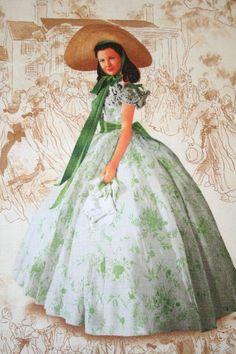 Scarlett ohara white dress costume 91