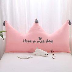 HOMRanger Princess Crown Headboard Cushion,pp-Cotton Filled Bedside Cushion Washable Soft Double Reading Pillow Large Backrest Bolster Pillow-b Cute Pillows, Baby Pillows, Kids Pillows, Throw Pillows, Bed Rest Pillow, Bolster Pillow, Pillow Cases, Chair Pillow, Plush Pillow