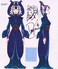 photo of Satine Concept Art signed( and with a mini-picture of Ahsoka) by Dave Filoni Star Wars Books, Star Wars Art, Saga, Duchess Satine, Satine Kryze, Anime Galaxy, Star Wars Costumes, Ahsoka Tano, Star War 3