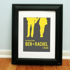 Maybe even use their whole silhouette -  wedding gift idea
