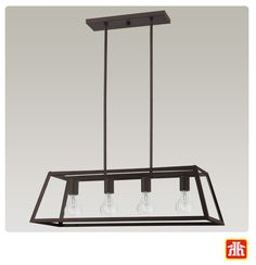 This rustic oil rubbed bronze finish chandelier will illuminate your kitchen with style.