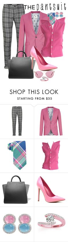 """Ladies Choice"" by amanningc ❤ liked on Polyvore featuring Topman, Lauren Ralph Lauren, Comme des Garçons, ZAC Zac Posen, Allurez, Oliver Peoples and thepantsuit"
